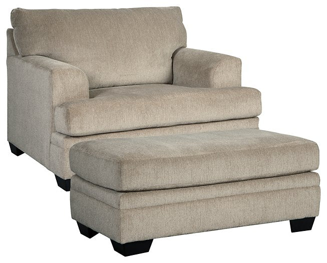 Dorsten Signature Design 2-Piece Chair & Ottoman Set