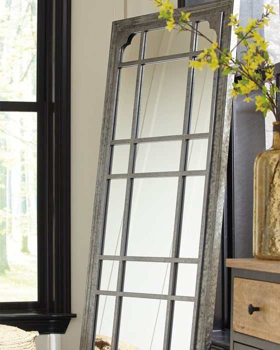 Remy Signature Design by Ashley Antique Gray Floor Mirror