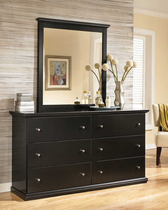 Maribel Signature Design by Ashley Black Dresser and Mirror