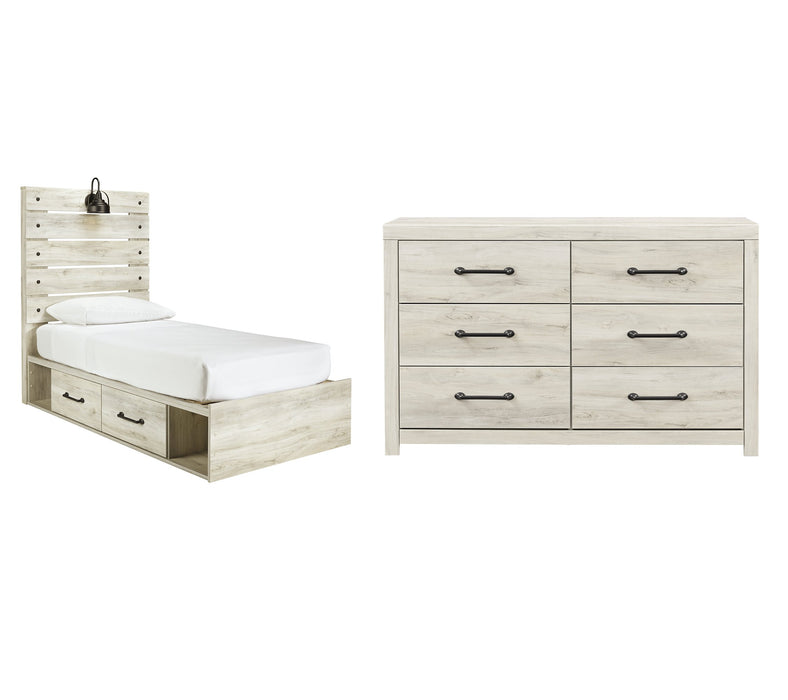 Cambeck Signature Design Youth Bedroom 4-Piece Bedroom Set with 2 Storage Drewers