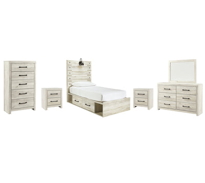 Cambeck Signature Design 8-Piece Youth Bedroom Set with 4 Storage Drawers
