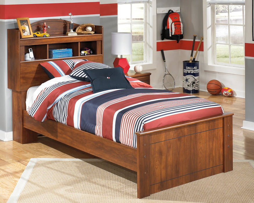 Barchan Signature Design by Ashley Medium Brown Twin Bookcase Bed