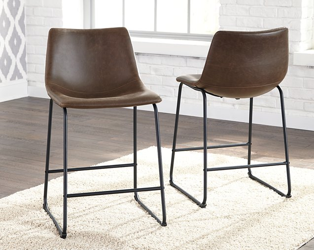 Centiar Signature Design by Ashley Brown Counter Height Bar Stool
