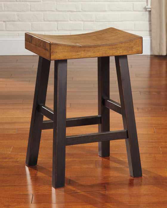 Glosco Signature Design by Ashley Medium BrownDark Brown Counter Height Bar Stool