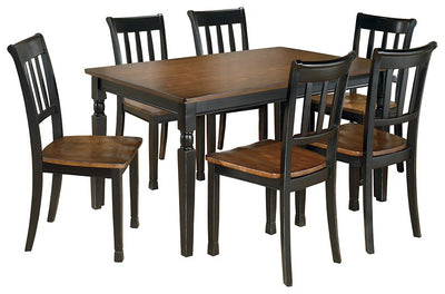 Owingsville Signature Design 7-Piece Dining Room Package