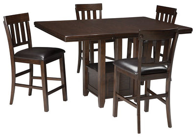 Haddigan Signature Design Counter Height 5-Piece Dining Room Set