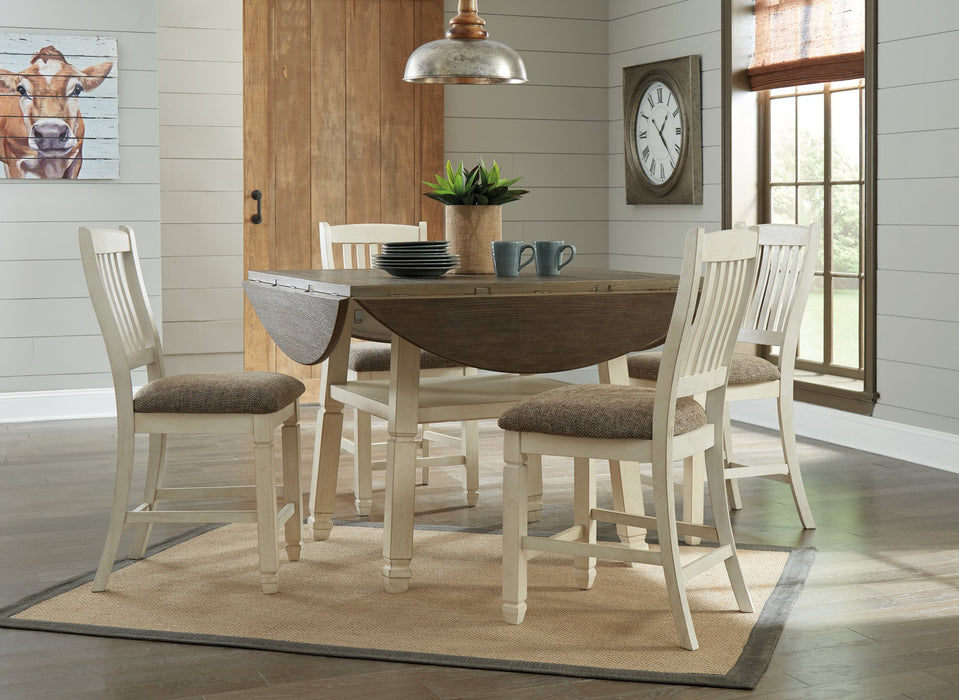 Bolanburg Signature Design by Ashley Two-tone Counter Height Dining Drop Leaf Table