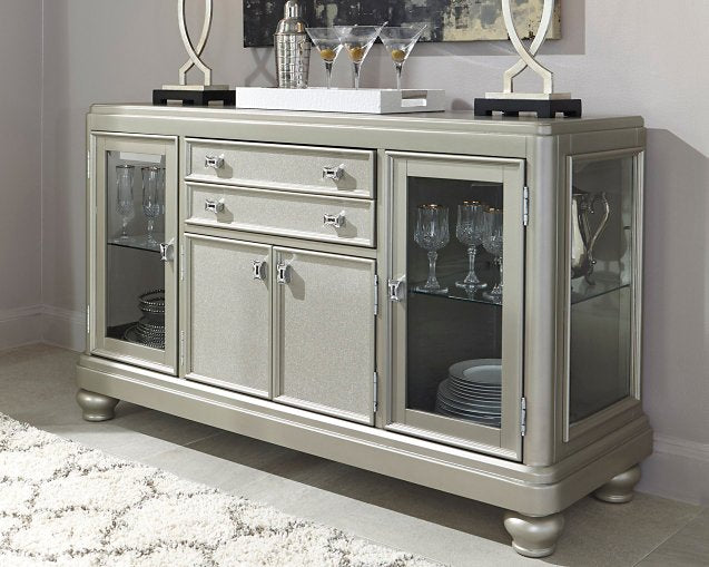 Coralayne Signature Design by Ashley Silver Dining Server