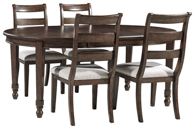 Adinton Signature Design 5-Piece Dining Room Package