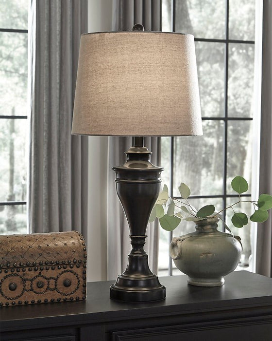 Darlita Signature Design by Ashley Bronze Finish Table Lamp Set of 2