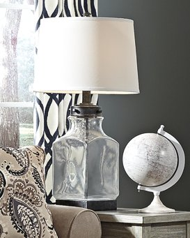 Sharolyn Signature Design by Ashley TransparentSilver Finish Table Lamp