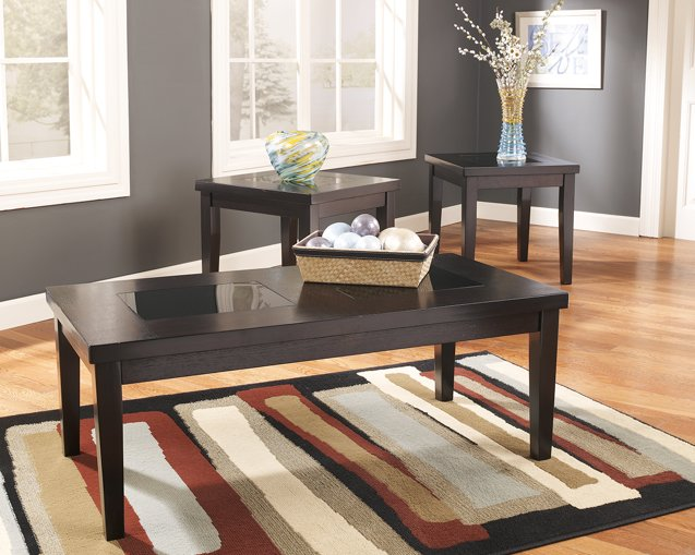 Denja Signature Design by Ashley Dark Brown Table Set of 3