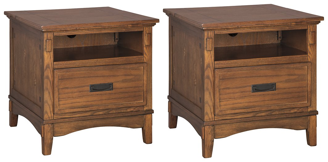 Cross Island Signature Design 2-Piece End Table Set