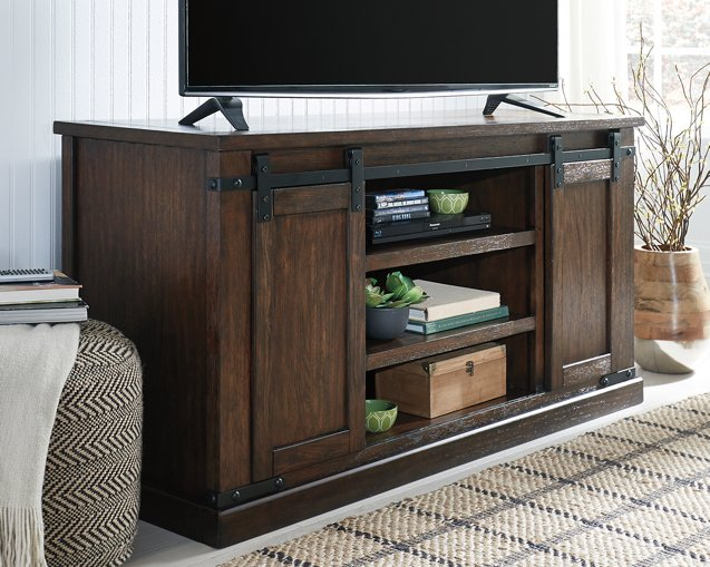 Budmore Signature Design by Ashley Rustic Brown 60 TV Stand