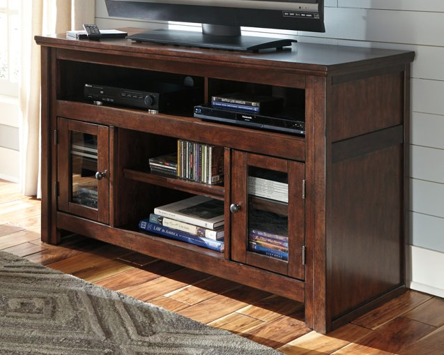 Harpan Signature Design by Ashley Reddish Brown 50 TV Stand