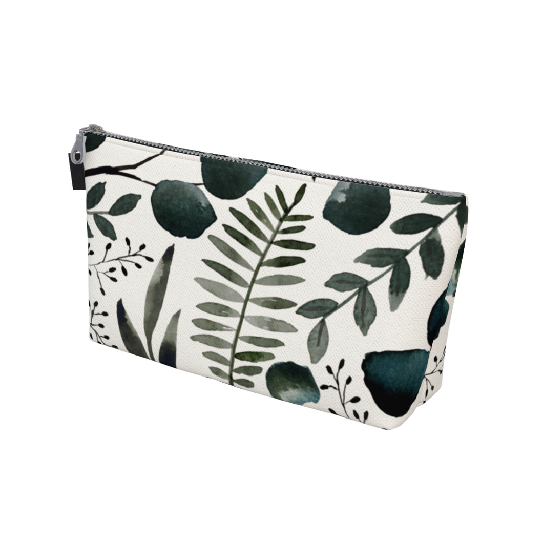 Deep Greenery Makeup Bag
