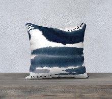 Load image into Gallery viewer, Navy Abstract Watercolor Throw Pillow