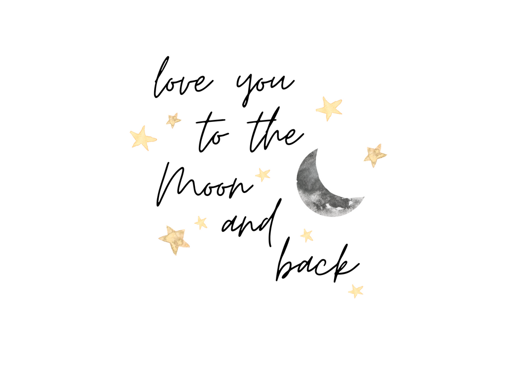 Love You Too The Moon And Back Wall Decal
