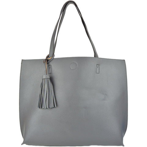Reversible Tote With Tassel