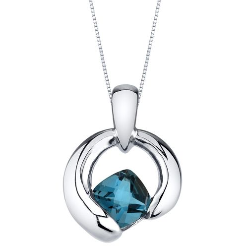 London Blue Topaz Orbit Pendant