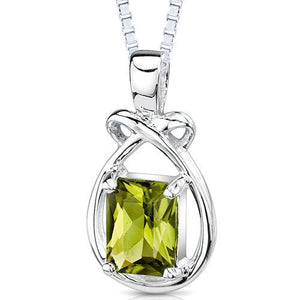 Genuine Emerald Cut Peridot SS