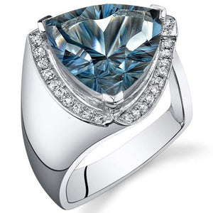 SS London Blue Topaz Ring 7