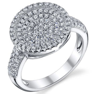 SS Circle Design Pave Ring 8