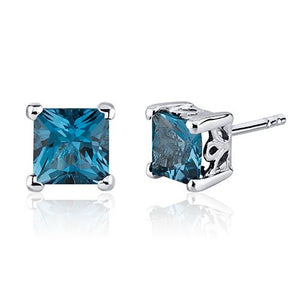 SS London Blue Topaz Princess Cut