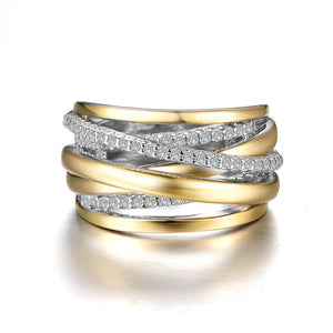 Ribbon Crossover Ring