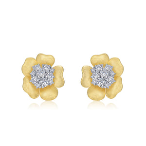 Mixed-Color Flower Stud Earring