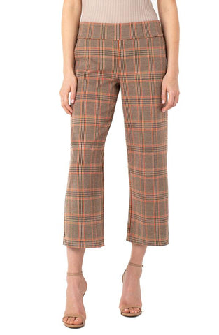 Mabel Pull Wide Leg Crop Pant Tan/Crm/Rust Size 6