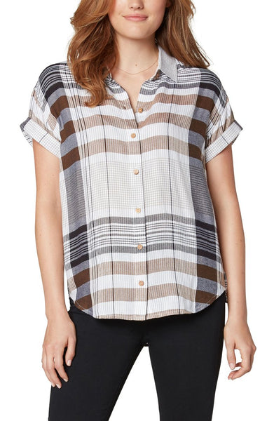 ROLLED SLEEVE BUTTON FRONT SHIRT