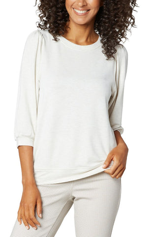 PUFFED SLEEVE KNIT TOP