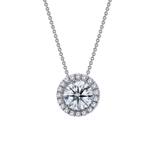 1.03 ct tw Halo Necklace