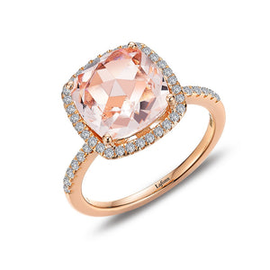 Rose-Cut Halo Engagement Ring