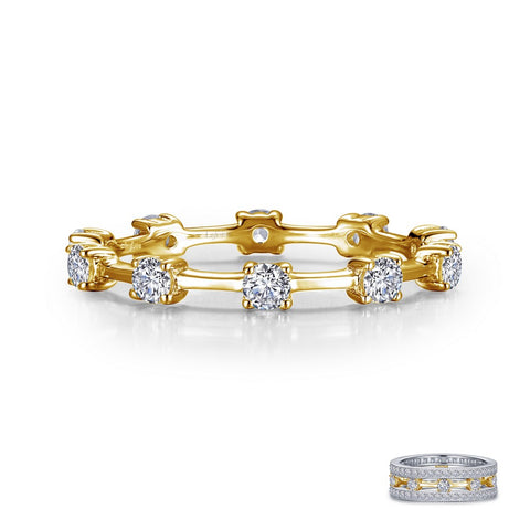 Alternating Eternity Band Gold