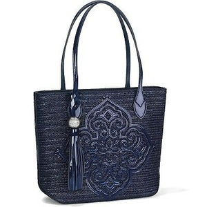 STARLA MEDALLION TOT NAVY STRAW