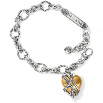 Neptune's Rings Golden Heart Bracelet
