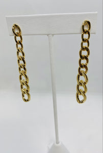Graduated Cuban Drop Earrings