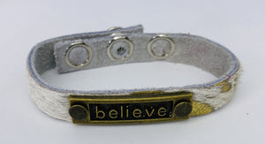 Leather Believe Bracelet
