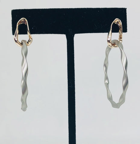 Twisted Drop Hoops