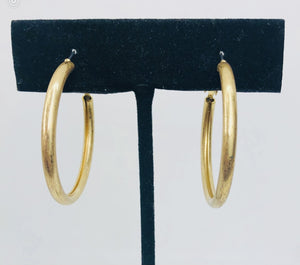 Matte Gold Medium Hoops