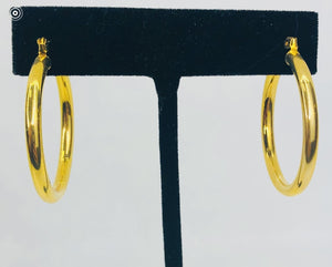 Gold Filled Medium Hoops