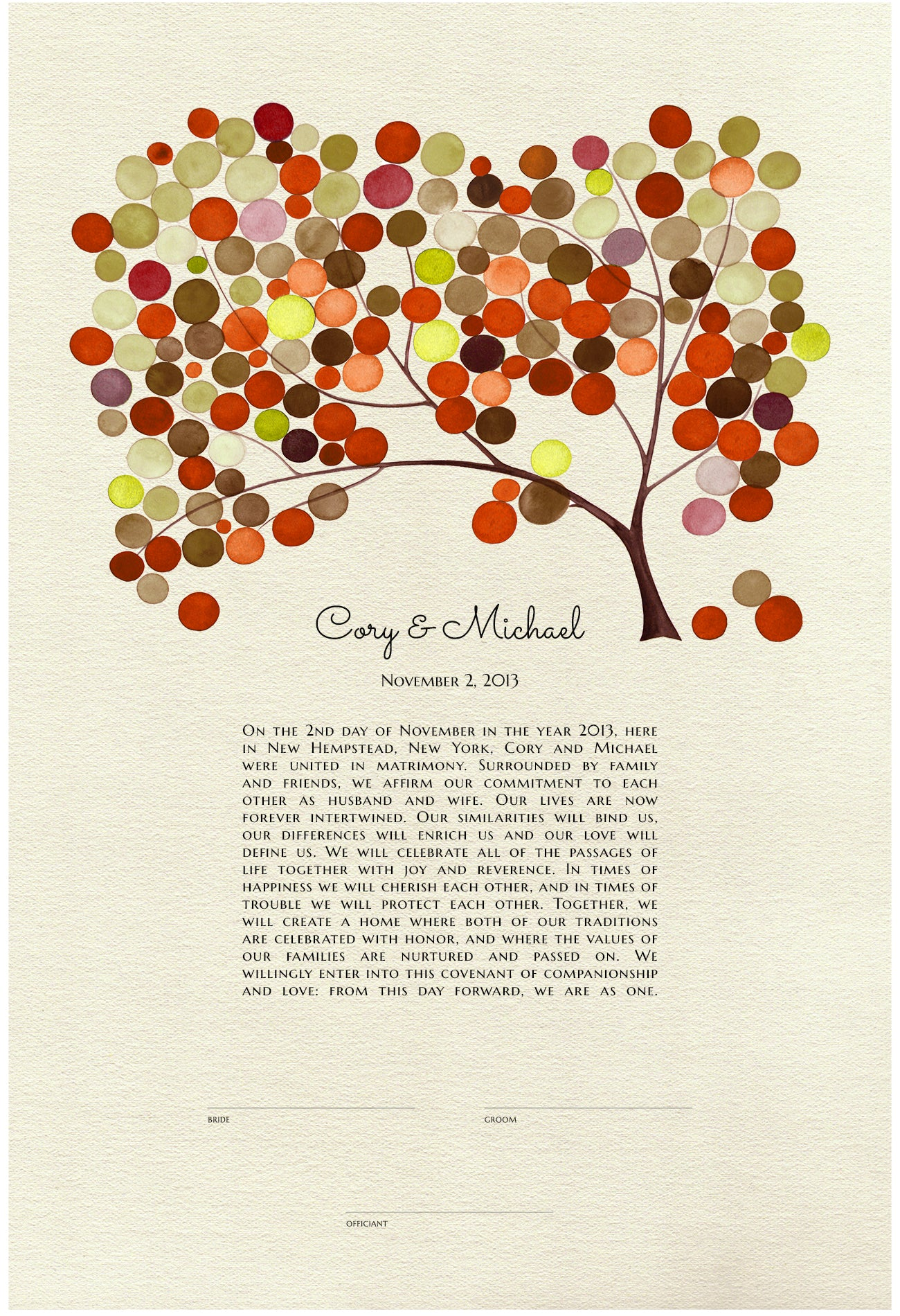 Ketubah YULAN MAGNOLIA TREE design - Reviewed by Cory Perlowitz