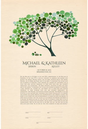 MODERN KETUBAH SPRING TREE OF LIFE - Reviewed by Kathleen Kelley