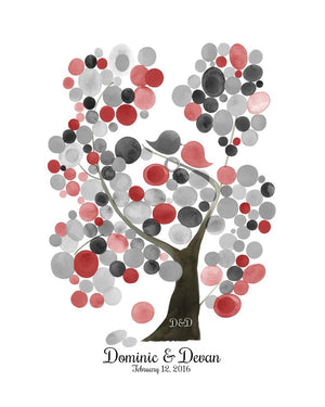 Modern Wedding Guest Book Alternative Print VELVET ASH TREE - Reviewed by Devan Larochelle