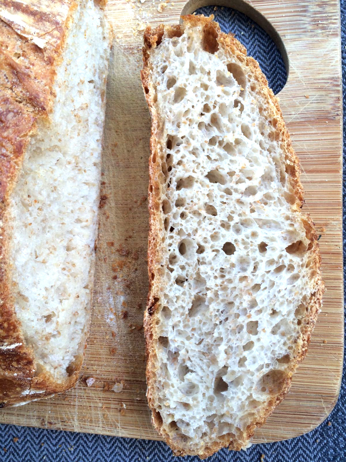 We hand make our own sourdough bread when the hectic time in the studio allows