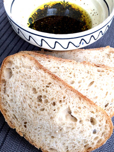 Sourdough bread and olive oil < such a treat!