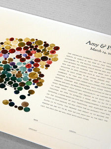 Our Ketubah Giclee Print featured in BRIDES.com