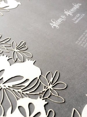 Introducing the POMEGRANATE KETUBAH Papercut by OnceUponaPaper